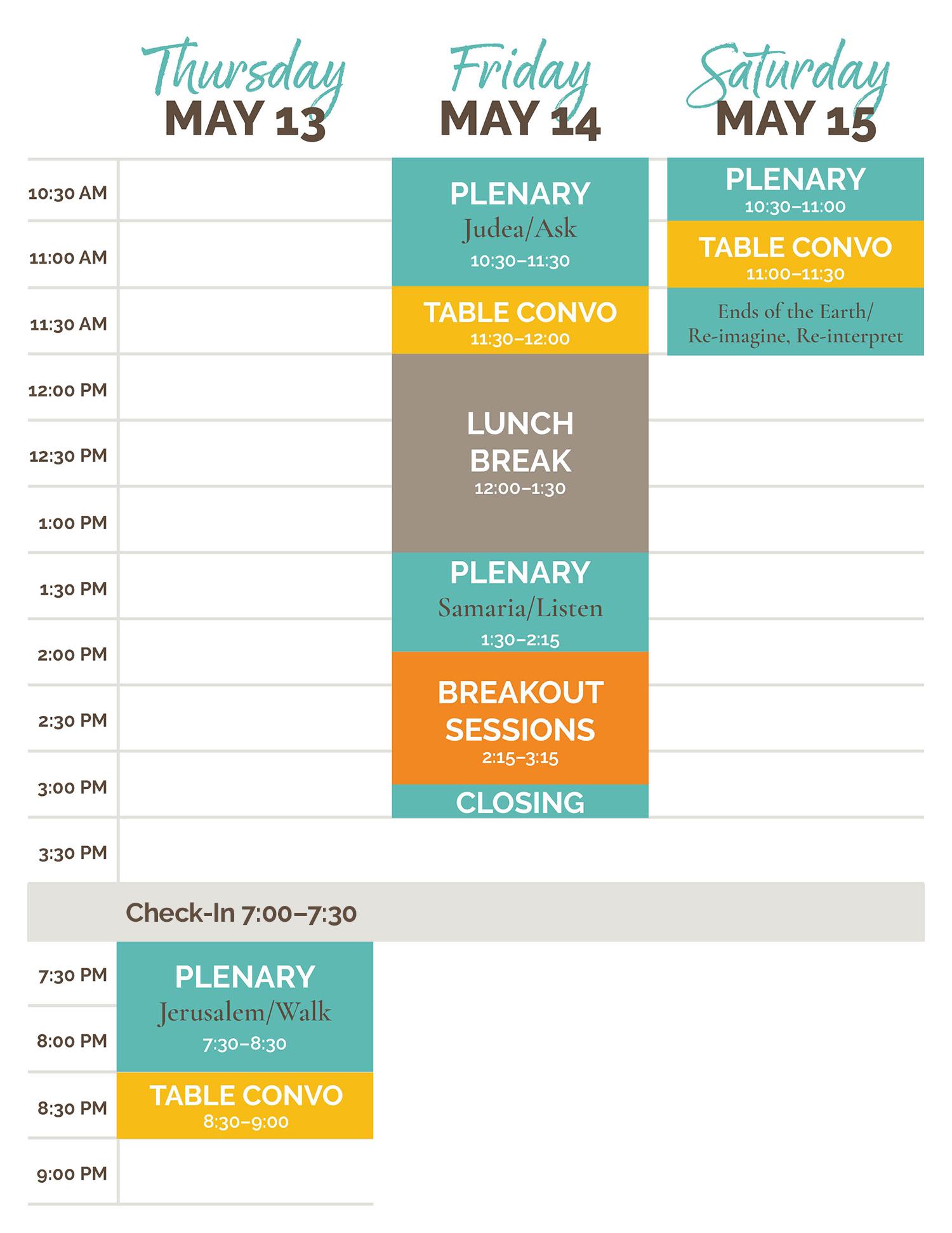 Glocal Mission Summit Schedule