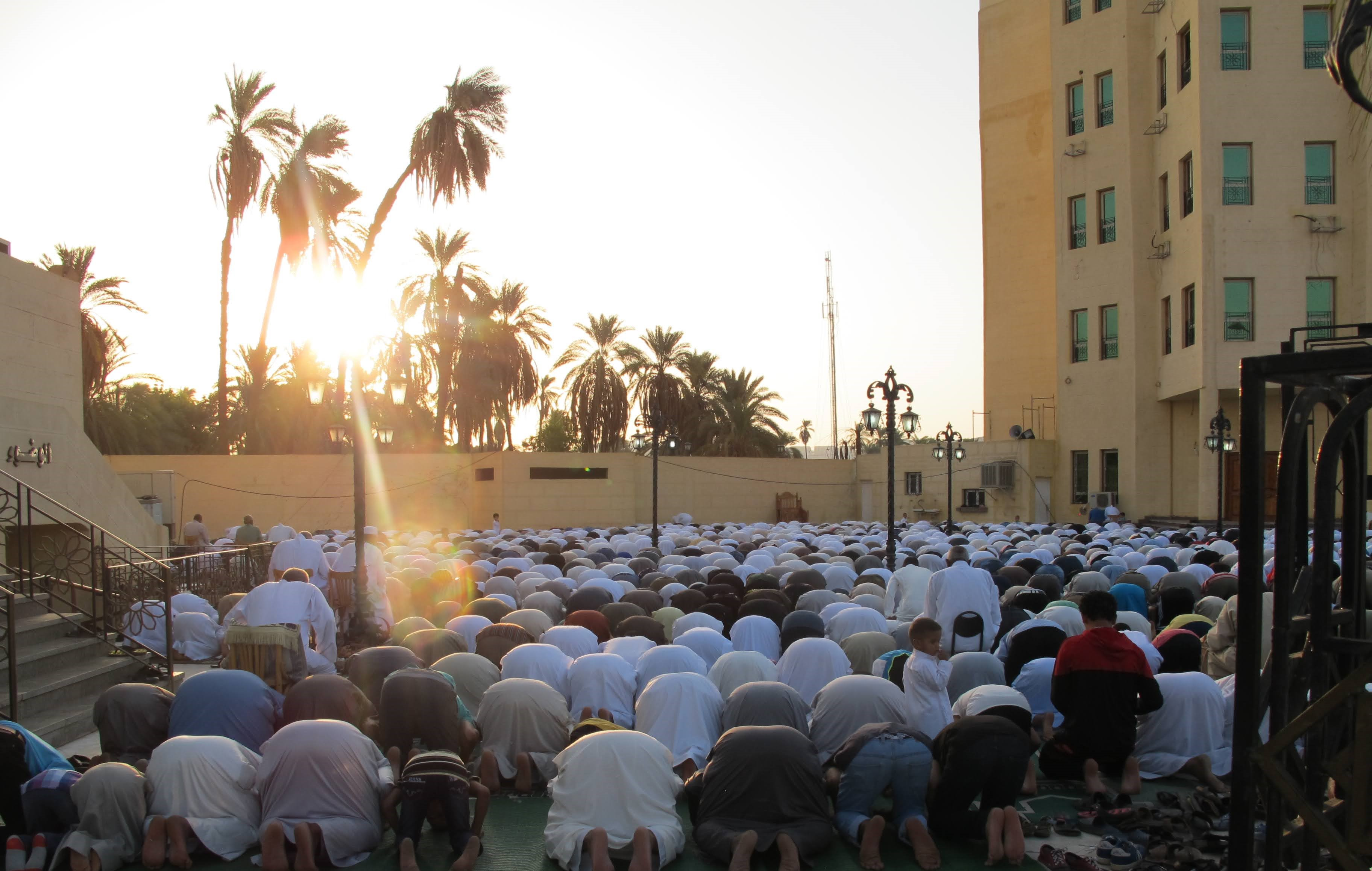 Men in prayer in the Middle East